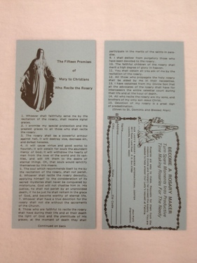 Photo of 15 PROMISES OF MARY LEAFLET 15P