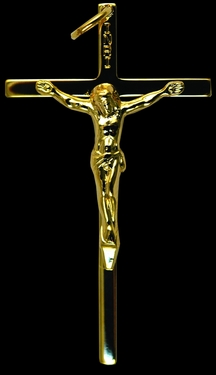 Photo of GOLD OVER STERLING SILVER CRUCIFIX 452
