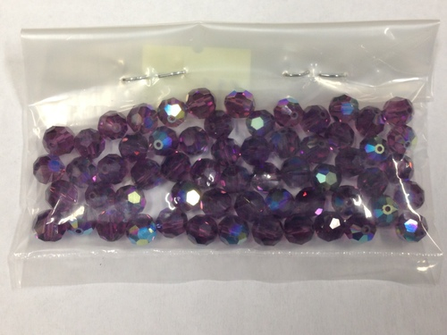 Photo of AMETHYST 6MM SWAROVSKI AURORA BOREALIS CRYSTAL BEADS 611AM