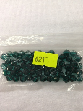 Photo of EMERALD 6MM TIN CUT SWAROVSKI CRYSTAL BEADS 621E