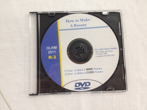 Photo of HOW TO MAKE A ROSARY DVD = WHO WE ARE & VIDEO INSTRUCTIONS FOR BOTH BEADED CORD AND WIRE AND CHAIN ROSARIES DVD