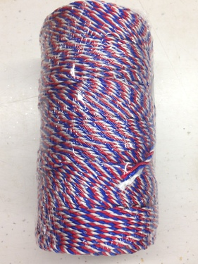 Photo of #36 RED, WHITE, BLUE TWISTED NYLON TWINE M36USA