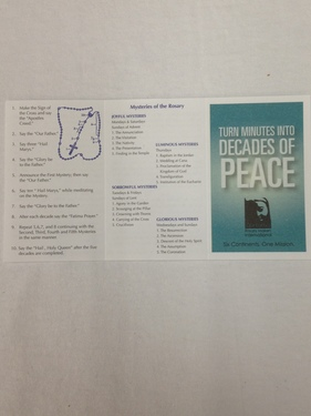 Photo of DECADES OF PEACE TRI-FOLD/10 PK-HOW TO PRAY THE ROSARY/ENGLISH PSR-2