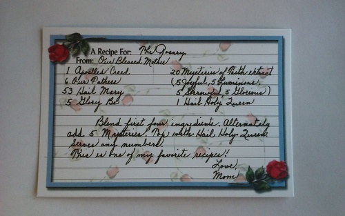Photo of ROSARY RECIPE CARD IN ENGLISH RC