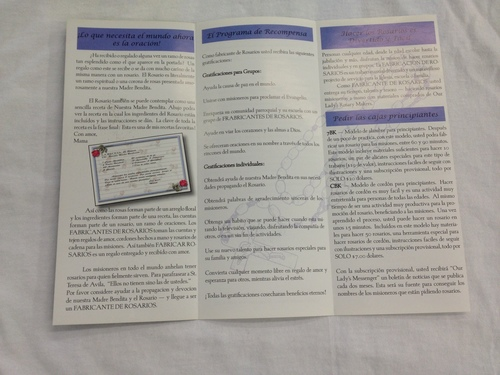 Photo of ROSES & PRAYERS LEAFLET - SPANISH RPS